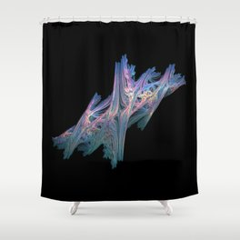 3D Fractal Driftwood Shower Curtain
