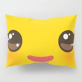 Kawaii Cartoon Face on yellow background Pillow Sham