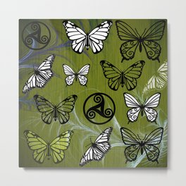 Butterfly Dreams in Glade Metal Print