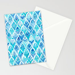 MAGICAL MERBIRD Mermaid Feather Print Stationery Cards