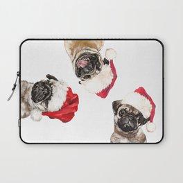 3 Emotional Pugs before Christmas Laptop Sleeve