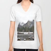 yosemite V-neck T-shirts featuring Yosemite by Lydia Gifford