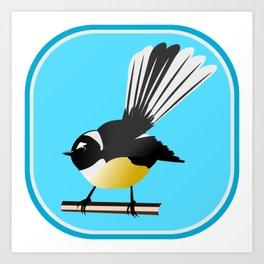 Fantail NZ BIRD Art Print