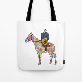 Sir Flower the Golden Knight Tote Bag
