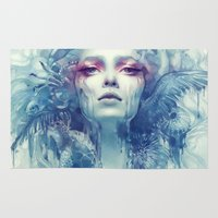 oil Area & Throw Rugs featuring Oil by Anna Dittmann