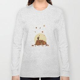Autumn Hedgehogs Long Sleeve T-shirt