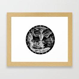 Death Comes To Salem (Black Print) Framed Art Print