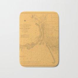 Map of Buffalo 1856 Bath Mat