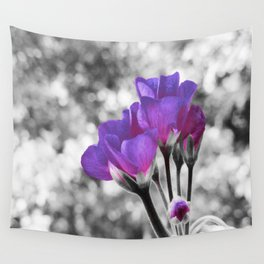 Fuchsia Violet Flowers Pop Of Color Wall Tapestry