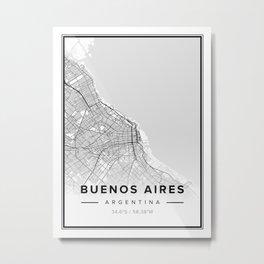 Buenos Aires Modern Map Metal Print