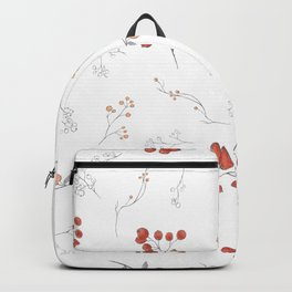 Autumn hand painted watercolor orange gray berries floral Backpack