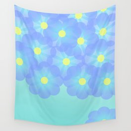 digital flowers Wall Tapestry