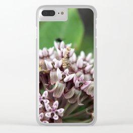 Milkweed Flower Clear iPhone Case