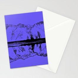 Knik River Mts. Pop Art - 1 Stationery Cards