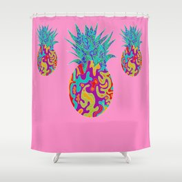 Three Pineapples Shower Curtain