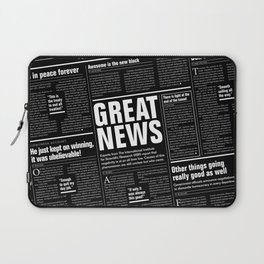 The Good Times Vol. 1, No. 1 REVERSED / Newspaper with only good news Laptop Sleeve
