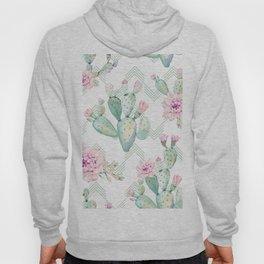 Cactus Chevron Southwestern Watercolor Hoody