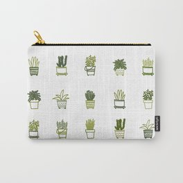 Little Green Plants Carry-All Pouch