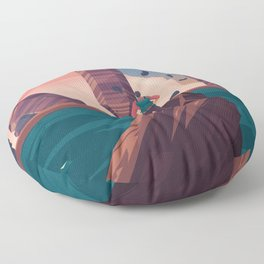 Oniric landscape Floor Pillow