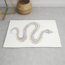 Snake Skeleton – Periwinkle & Gold Rug