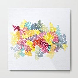 Coloured Bubbles Metal Print