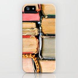 Vintage Books Stacks iPhone Case