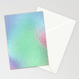 Simply Metallic in Holographic Rainbow Stationery Cards