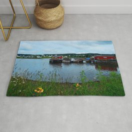 Fisherman's Wharf in Cape Breton Rug