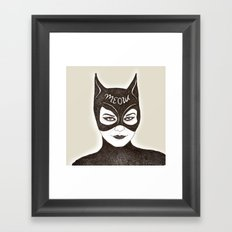 cat woman Framed Art Print