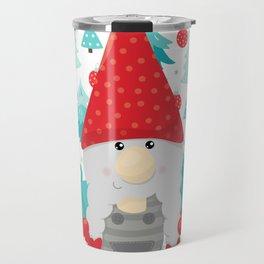 Holiday Gnome with gifts Travel Mug