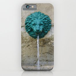 Green Lion by Lika Ramati iPhone Case