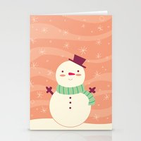 snowman Stationery Cards featuring Snowman by Claire Lordon