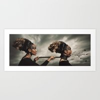 inner demons Art Prints featuring The Demons Within by Shaun Lowe