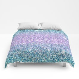 Blue & Lilac Mermaid Glitter Ombre Comforters