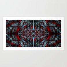 Red Revolver Art Print