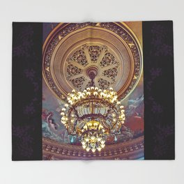 Victorian Painted Ceiling Throw Blanket