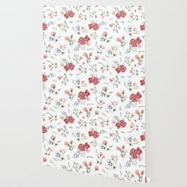 Autumn Floral Pattern Wallpaper