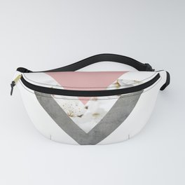 Blossoms Arrows Collage Fanny Pack