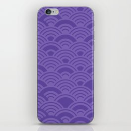 Ultra Violet Color of the Year 2018 Seigaiha seigainami wave of the sea abstract scales iPhone Skin