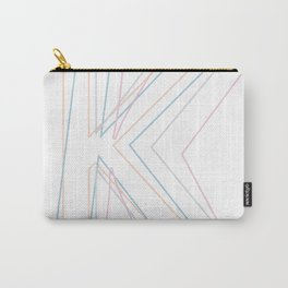 Intertwined Strength and Elegance of the Letter K Carry-All Pouch