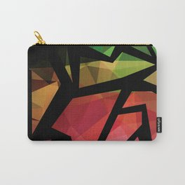 Abstract , polygonal pattern Carry-All Pouch