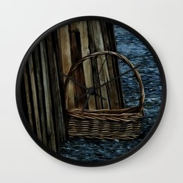 Gathering Firewood Wall Clock
