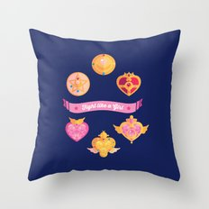 Fight Like A (Magical) Girl Throw Pillow