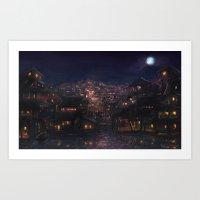 Night Slum Art Print
