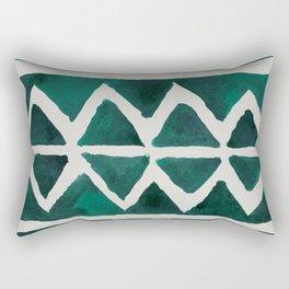 Teal Triangles Rectangular Pillow