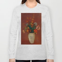 "Odilon Redon ""Bouquet in a Chinese Vase"" Long Sleeve T-shirt"