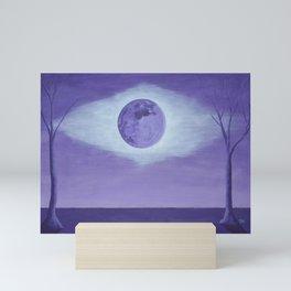 Crown Chakra Moon Mini Art Print