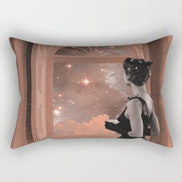 dreaming in pink Rectangular Pillow