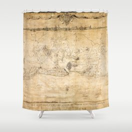 Plan of the Siege of the Havana Surrender (Aug. 12, 1762) Shower Curtain
