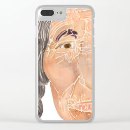Face of a Nomad - White Clear iPhone Case